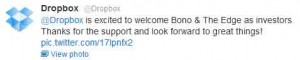 Dropbox tiene a Bono y The Edge
