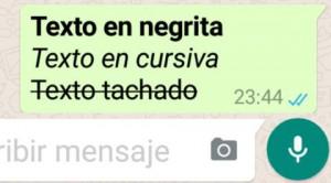 negritas y cursivas en whatsapp